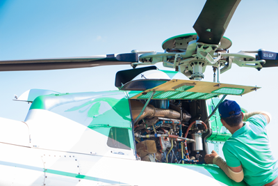 3-helicopter fleet – is it optimal to own internal technicians team?